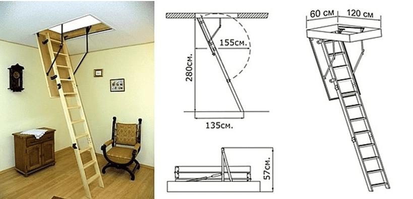 Как правильно выравнивать и фиксировать лестницу в проеме